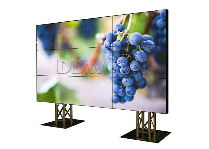 Super Thin Bezel 4K Multi Screen Display Wall 3x3 Support DVI HDMI VGA AV YPBPR Signals