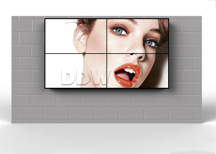Ultra Narrow Bezel Video Display Walls FHD 1920x1080  X2 LG 500 Nits 55 Inch