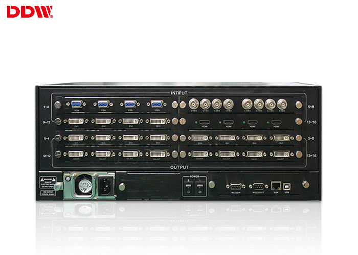 High end Multi function video wall processor for monitoring center , HDMI DVI Video Wall Controller DDW-VPH1211