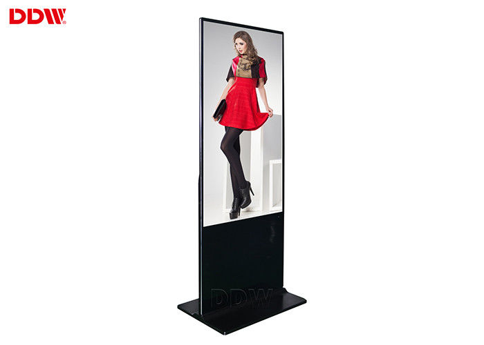 49 inch ultra thin floor standing digital signage for shopping center