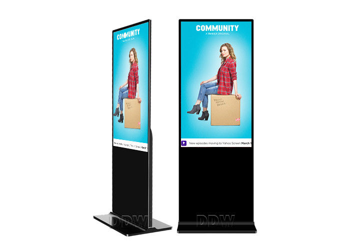 "50"" large Free Standing kiosk advertising Digital Signage format touch screen for security monitoring center"